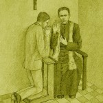 Illustration: Father Anthony performing penance